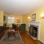 Fireplace and hardwood floors