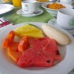Früchteteller zum Frühstück