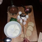 Sharing platter, toasted marshmallow, chocolate pot, citrus biscuits & vanilla bean ice cream.