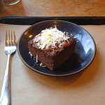 Chocolate Coconut Cake is even better served with gelato!