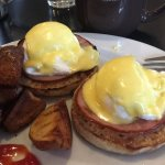 Classic benedict with potatoes.