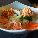 salade de fruits de mers et sauce wafu