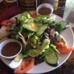 Cobb salad with creamy balsamic dressing.