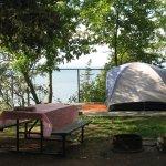 Site de tente aménagé