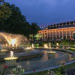 A beautiful spot in the Tivoli Gardens. The light illuminated buildings and gardens were wonderf