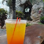 Aruba Ariba (from Happy Hour) at a grill near the waterfall