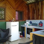 Open air kitchen in the 2 bedroom bungalow