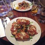 Tasty bruschetta and fried squid❤🇮🇹