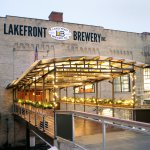 The front of the building at Lakefront Brewery in Milwaukee, Wisconsin.
