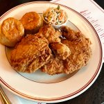 Fried Chicken Wednesday- starring our Buttermilk Fried Chicken, Coleslaw, and Honey Biscuits