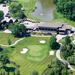 Beautiful Crosswinds Golf Clubhouse directly across the street from us.