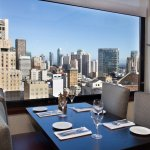 Views of downtown and Union Square make lunch or dinner at Leatherneck a memorable  experience.