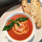 homemade tomato and basil soup