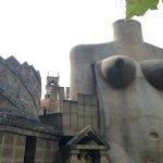 parte dell'architettura in forma di corpo di donna