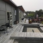 Rear Decking viewed from outside Princess Room
