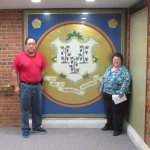 Us in front of the State Seal