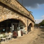 A charming little cafe situated  on the quay side of Victoria quays, sheffield