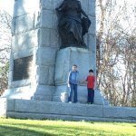 The first big monument from the arch, Minnesota's. It is a half mile walk,