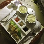 the steamed chicken dinner from room service. Very tasty and healthy meal