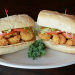 Shrimp Poboy on French bread from New Orleans