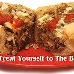 Mushroom Cheesesteak with Sauce & Onions :)