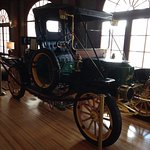 The antique car in the Stanley Hotel