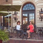 The Chaz patio is an ideal setting for drinks or shared appetizers