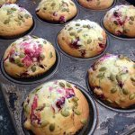 Scratch made Lemon Zucchini Cranberry Muffins