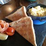 Salmon and scrambled egg