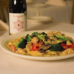 Special Pasta with Broccoli, Mushrooms, Red Peppers