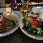 Blackened chicken was excellent and side salad was very generous portion!  Spicy turkey club was