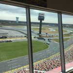 View of the Charlotte Speedway form the Speedway Club Restaurant