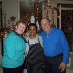 My wife and I with the Executive Chef Meseret