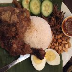 Nasi Lemak with excellent sambal chilli.
