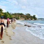 Riding through Coconut Beach