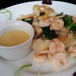 Our friends loved the Rock fish dish....I tasted the sauce and it was second to none!!