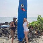 Hannah and Surfer Jeff from Surf Bear Kona Hawaii