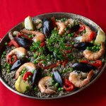 Black Paella! Discover a different Color/Taste of Paella made with Squid's Ink.