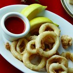 Calamares a la Romana. French fried Squid.