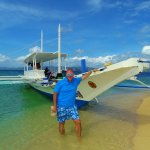 On Isla Blanca on a morning cruise from Apulit