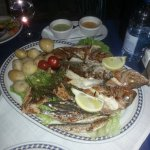 Mixed fish platter for two
