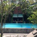 The pool and gazebo