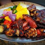 The Backyard Braai Platter - Ribs, Steak, Sausage & Chicken. Additional side of your choice. R18