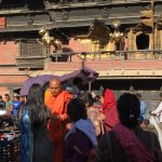 Holy man blessing people in Kathmandu