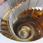 spiral staircase up to viewing platform