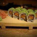 Green roll with salmon