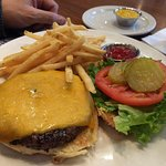 Burger and BRG fries