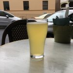 This beautiful Hills Cider savored on the sidewalk seating.