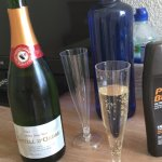 Welcoming water and cava