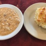 A buttermilk biscuit and a side of gravy!